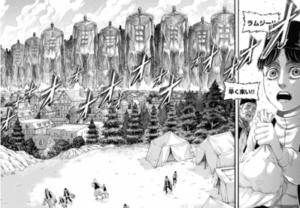 131話で超大型巨人たちがマーレに上陸